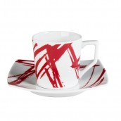 Lot de 6 tasses à café EXPRESSION ROUGE