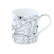 Mug à peindre 35 cl BUTTERFLY ART & COLOR