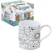 Mug à peindre 35 cl FLOWERS ART & COLOR