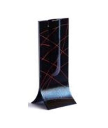 Vase design Carneol Glass noir trait rouge 57
