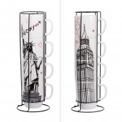 Mugs empilables Table Passion Londres et New Yor