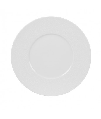 Lot de 6 assiettes plates Impression blanche par TABLE PASSION