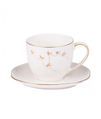 Table Passion - Service à café porcelaine Mateor blanc (lot de 6)
