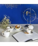 Table Passion - Service de café Amman blanc et or