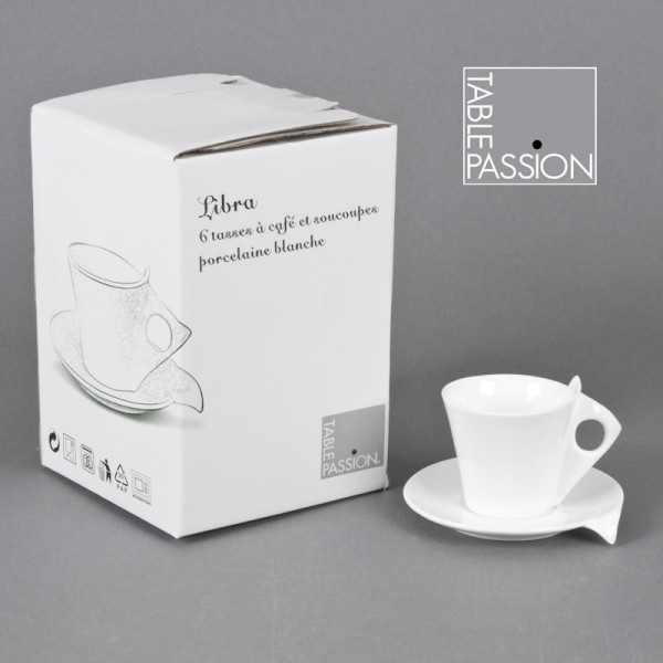 coffret 6 tasses cafe libra achat coffret 6 tasses cafe libra pas cher sur d co maison. Black Bedroom Furniture Sets. Home Design Ideas
