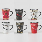 Coffret 6 mugs color 30cl