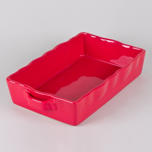 Plat à four rectangle 33x21 Gusto rouge