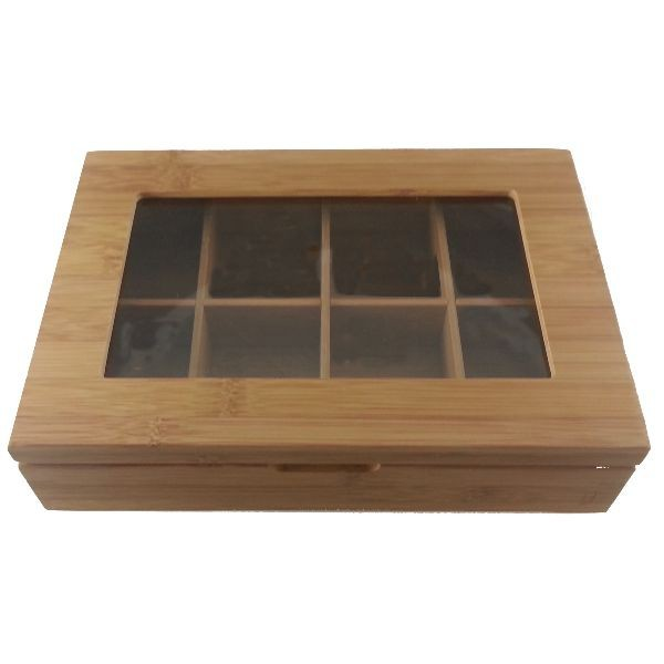 Bo te th 8 compartiments bamboo achat bo te th 8 compartiments bamboo sur d co maison - Boite a the 9 compartiments ...