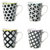 Coffret de 4 mugs COOL BLACK