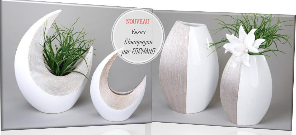 Vases FORMANO collection Champagne sur Déco Maison